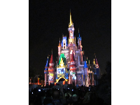 The castle was lit like wild during the castle projection show, which has now ended.