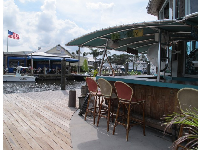 Shrimpers Grill and Raw Bar, across the water.