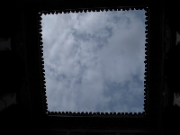 Looking up at the sky in Morocco.