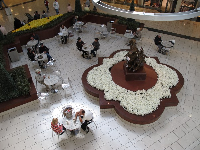 There are plenty of lovely places to sit at the mall.