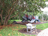 Anchor Park playground, across the street from the southern end of the beach.