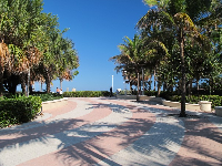 Brick boardwalk as you enter 21st Street Beach.