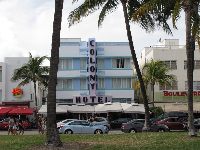 Colony Hotel, one of the Art Deco buildings.