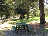 Picnic table in paradise.