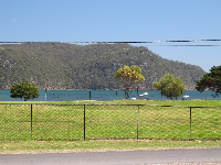 View across the park to Pittwater.