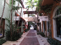 Alley with shops.