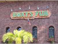 I like the brick building that houses Roxy's Pub.