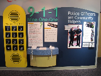Kids can practice dialing 911 from these unplugged phones.