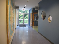 Hallway in the Marine Science building.