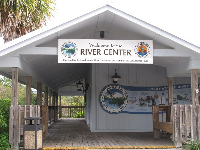 Entrance to the River Center.