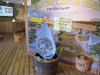 Exhibit teaching the importance of balancing water use with water availability.