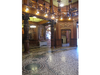 The attractive floor in Ponce de Leon Hall.