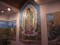 Painting of Mary.
