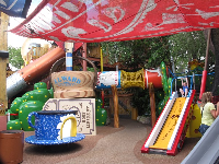 Play area at Woody Woodpecker's Kidzone.