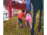 Rope play area at Woody Woodpecker's Kidzone.
