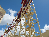 Hollywood Rip Ride Rockit, a classic rollercoaster.