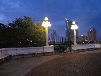 Stop on the Kennedy Blvd bridge and take in the gorgeous scene of the river.