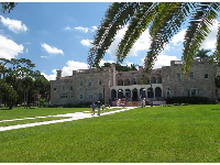 The former Ringling estate, as seen from the bayfront promenade.