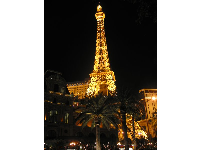 You can see the Eiffel Tower at night in Las Vegas on The Strip!