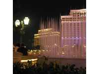 At night, have a romantic walk along the European-style boulevard that The Strip becomes outside the Bellagio Resort.