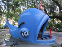 Pinocchio on the whale.