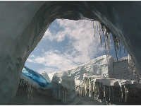Icicles in Antartica.