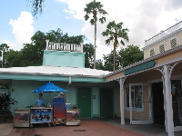 The Key West area has pastel-colored architecture.