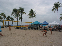 Beach volleyball.
