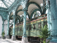 Flagler's railcar in the pavilion that was built especially for it in 2005.