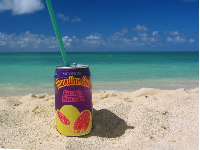 Nothing better than sipping guava juice in the afternoon at Lanikai Beach!