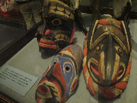 Masks in the Northwest Coast Indians Hall.