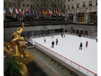The rink is large!