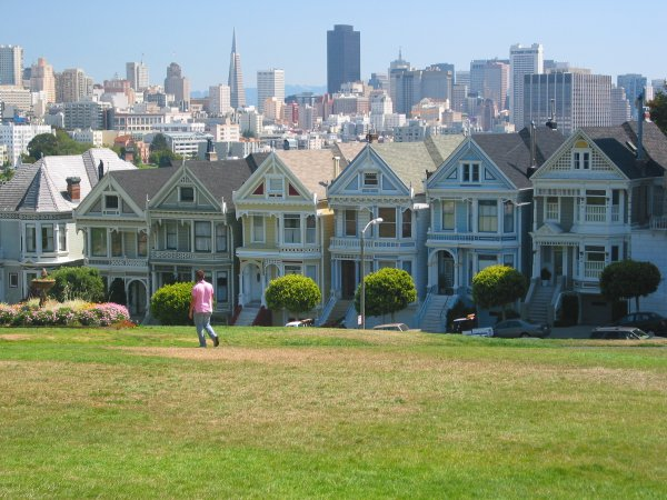 Alamo Square and the Painted Ladies, San Francisco California