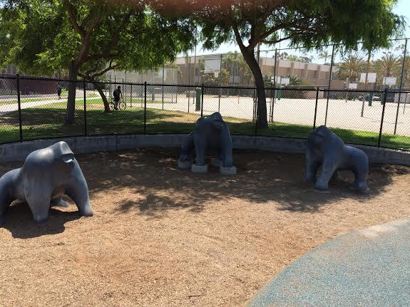 Gorilla Playground, UCSB campus, Santa Barbara California