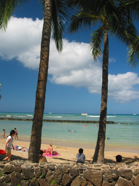 Waikiki Beach Ocean Swimming Pool, Oahu Hawaii