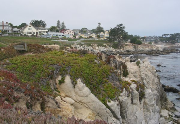 Walk to Lovers Point Park, Monterey California