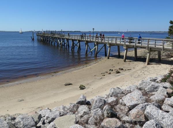 Southport Town, Pier and Waterfront Park, North Carolina NC