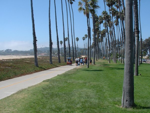Cabrillo Bike Path and Skater's Point, Santa Barbara California